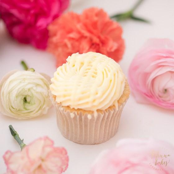 Lemon Curd & White Chocolate Cupcake