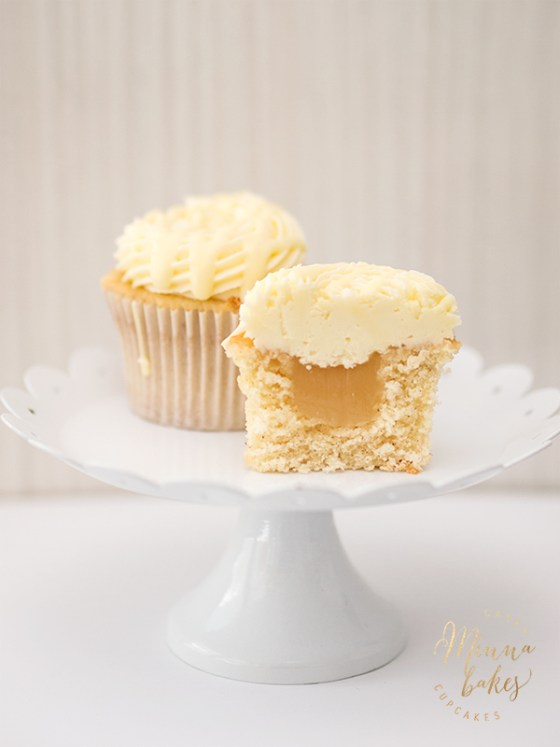Valkosuklaa-sitruuna cupcake