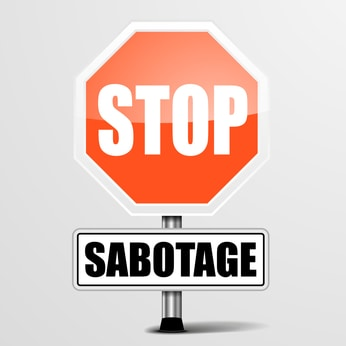 image eliminate self sabotage stop sign