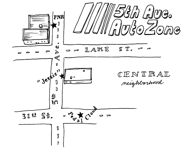 map of lake street auto places