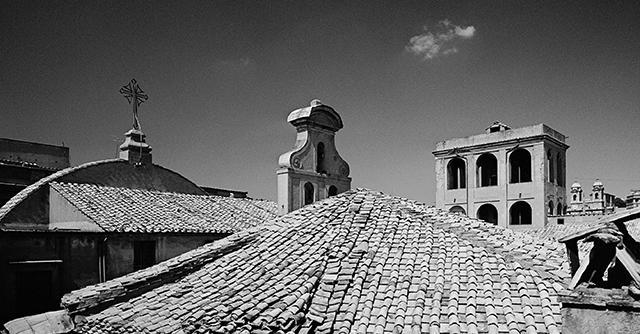Roman Roofscapes: Homage to Giorgio de Chirico, ca. 1967