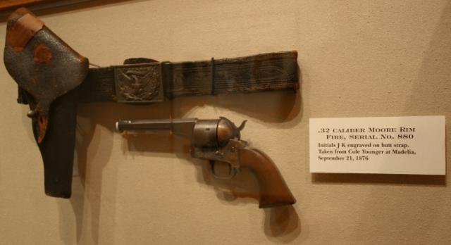 The gun confiscated from Cole Younger when he was captured two weeks later near