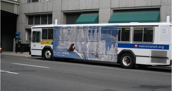 metro transit bus with Montana