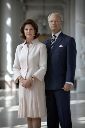 Their Majesties King Carl XVI Gustaf and Queen Silvia of Sweden