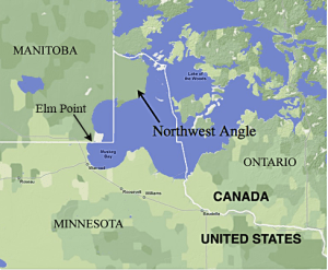 The Story Behind Minnesotas Weirdly Shaped Northern Border Minnpost - Minnesota-in-us-map