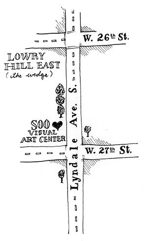 Hand-drawn map of SOOVAC area