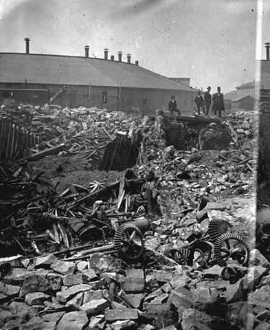 Ruins of Washburn A Mill after explosion