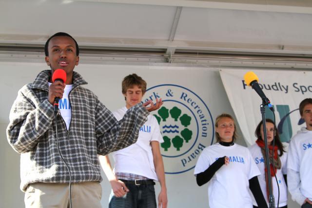 Mohamed Samatar speaking at the 2011 Race to Unite.