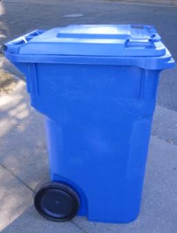 one-sort recycling bin
