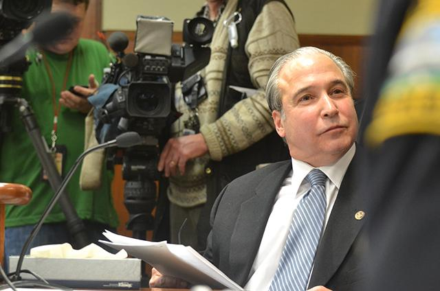 Rep. Michael Paymar outlined his universal background checks bill before the Hou