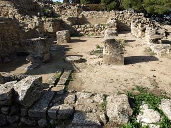 Phaistos: Part of the old palace east of the New Palace