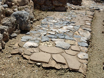 Zakros: paving in the Minoan town (detail)