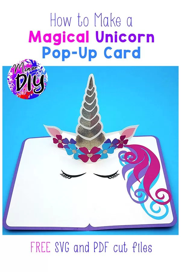 how to make a magical unicorn popup card » minor diy