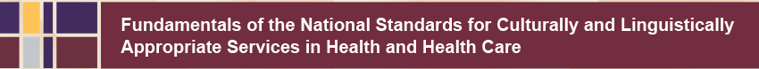 Fundamentals of the National Standards for Culturally and LinguisticallyAppropriate Services in Health and Health Care