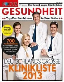 FOCUS Klinikliste 2013