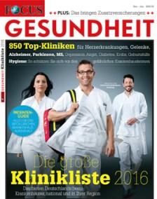 FOCUS Klinikliste 2016