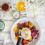 burrata, radicchio and blood orange salad