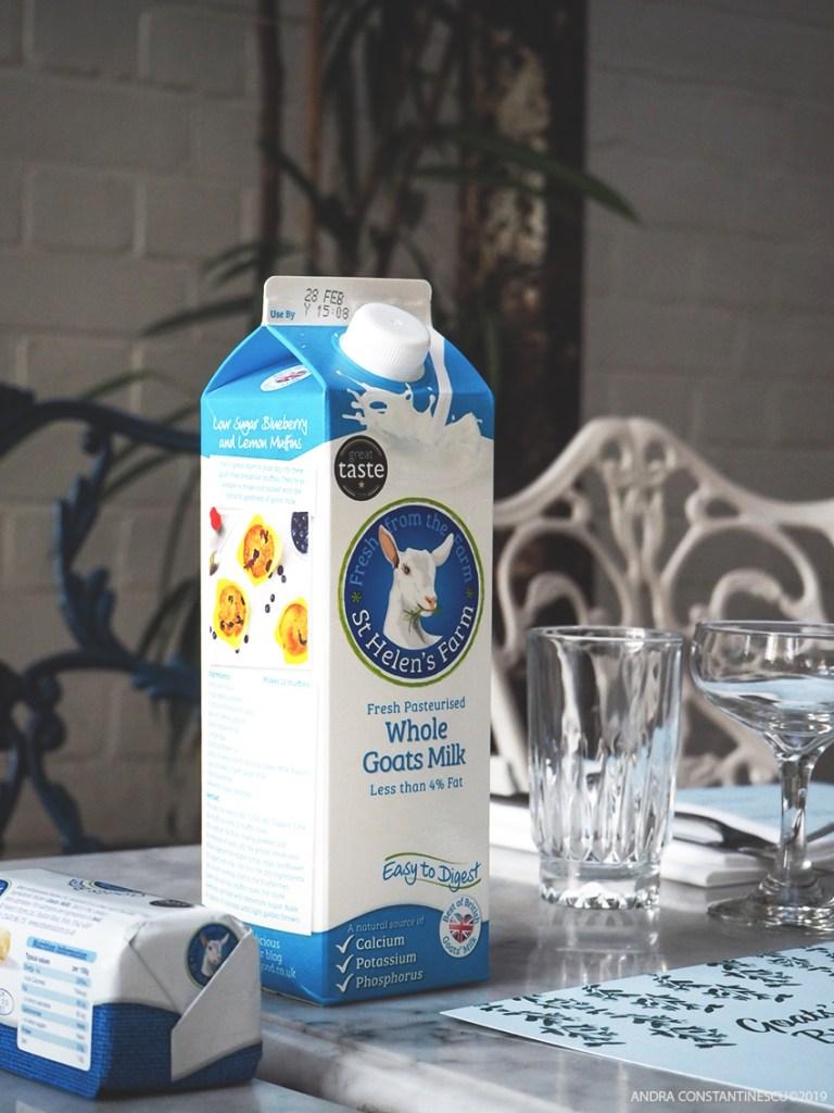 Saint Helen's goats milk and goats butter on a table