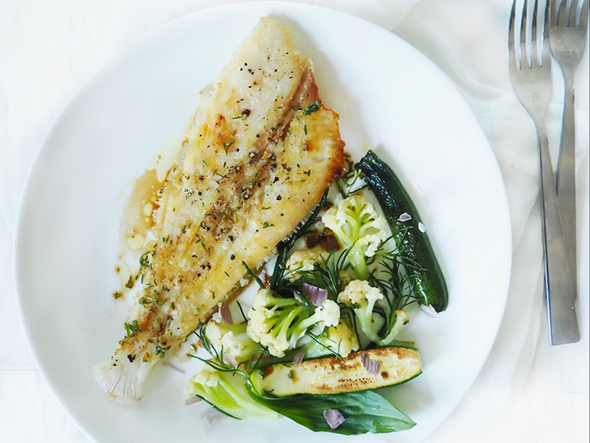 Megrim Sole with Spring Greens. Make this megrim sole recipe for a delicious low calorie lunch