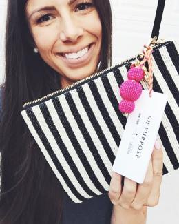 kate spade on purpose beaded clutch