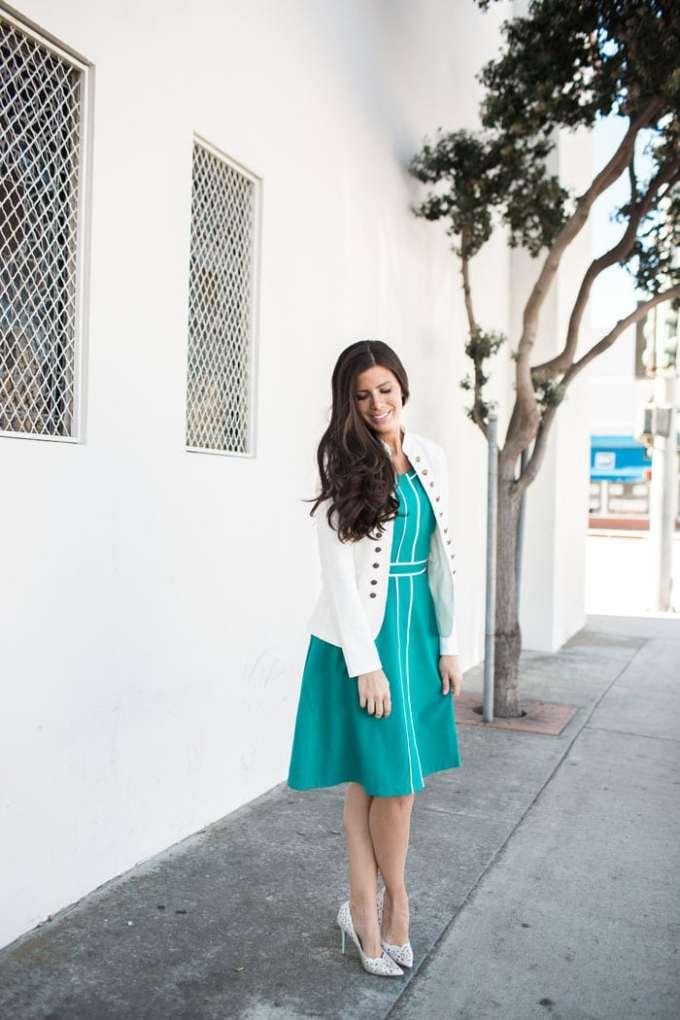 green modcloth dress