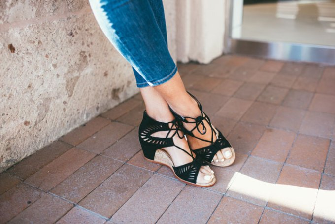 cutest spring lace-up suede wedge sandals