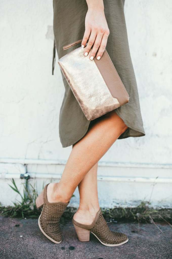 This gold clutch is only $20!