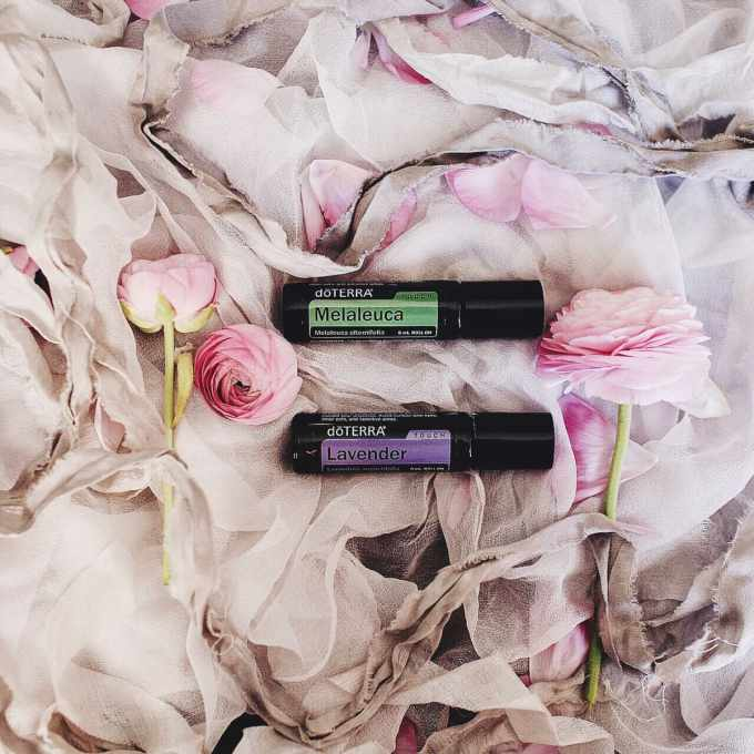 melaleuca and lavender touch oils from doterra. perfectly diluted so that you don't have to add fractionated coconut oil to use on babies or children! and they have a roller ball for super easy application.