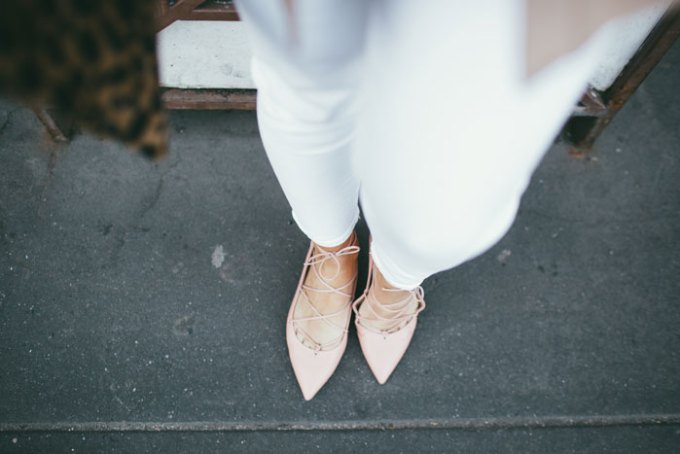 SUPER cute lace up flats! Really comfy, and they go perfectly with denim or dresses