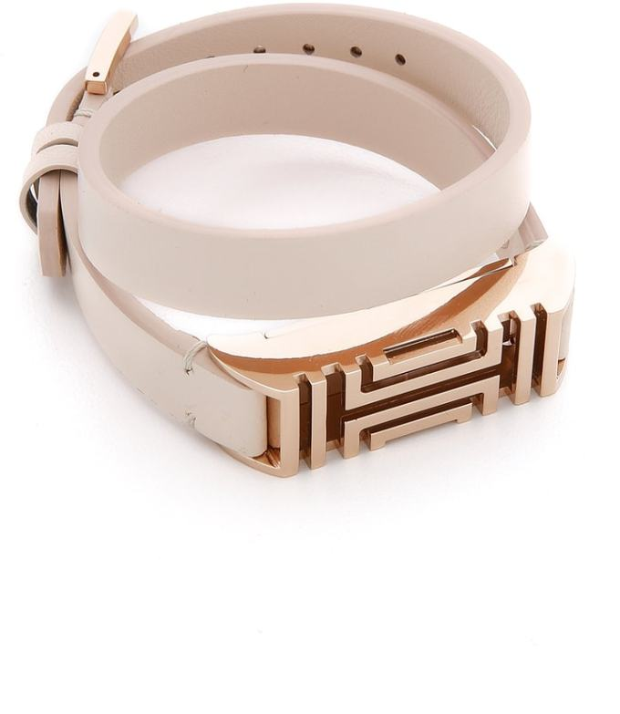tory burch rose gold fitbit - the cutest way to wear a fitbit!