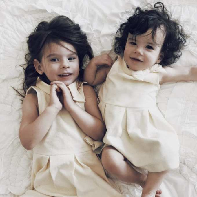 cutest little girls in janie and jack sunday dresses