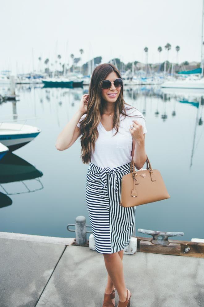 stripe sailor skirt