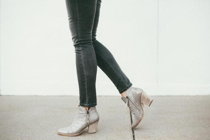 Silver booties on sale