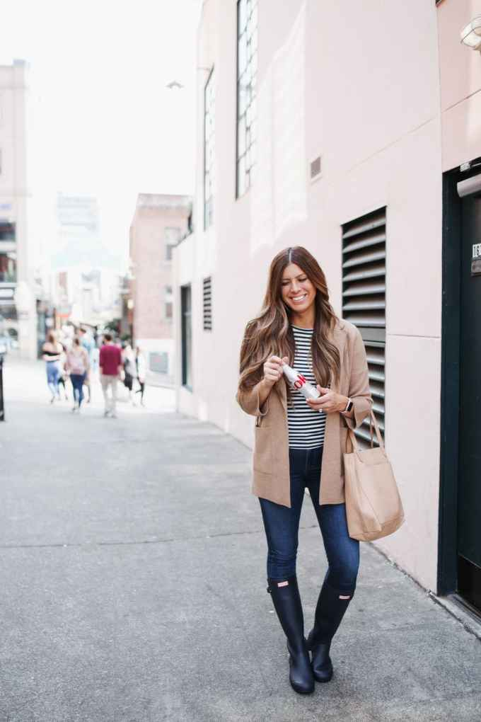 cozy sweater blazer friday traveling faves