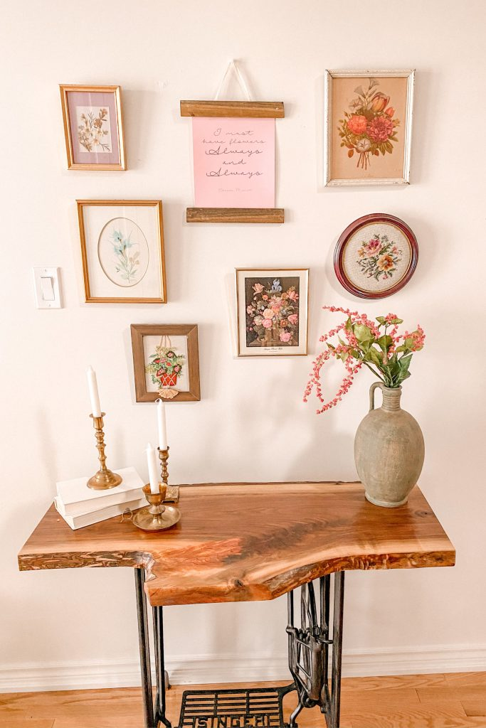 Thrifty Under $30 Spring Styled Entryway