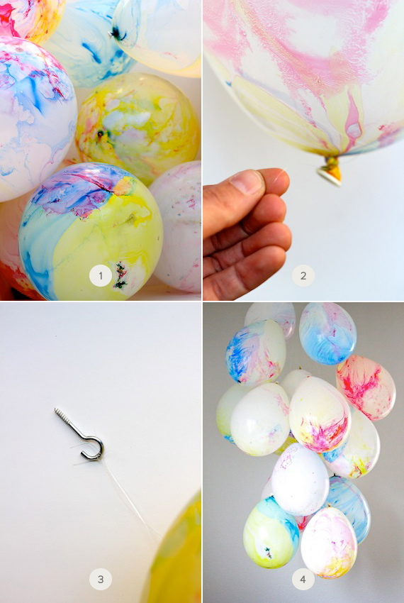 Balloons These Are The Tie Dye Variety From Party City Fishing Wire A Hook This Is So Easy