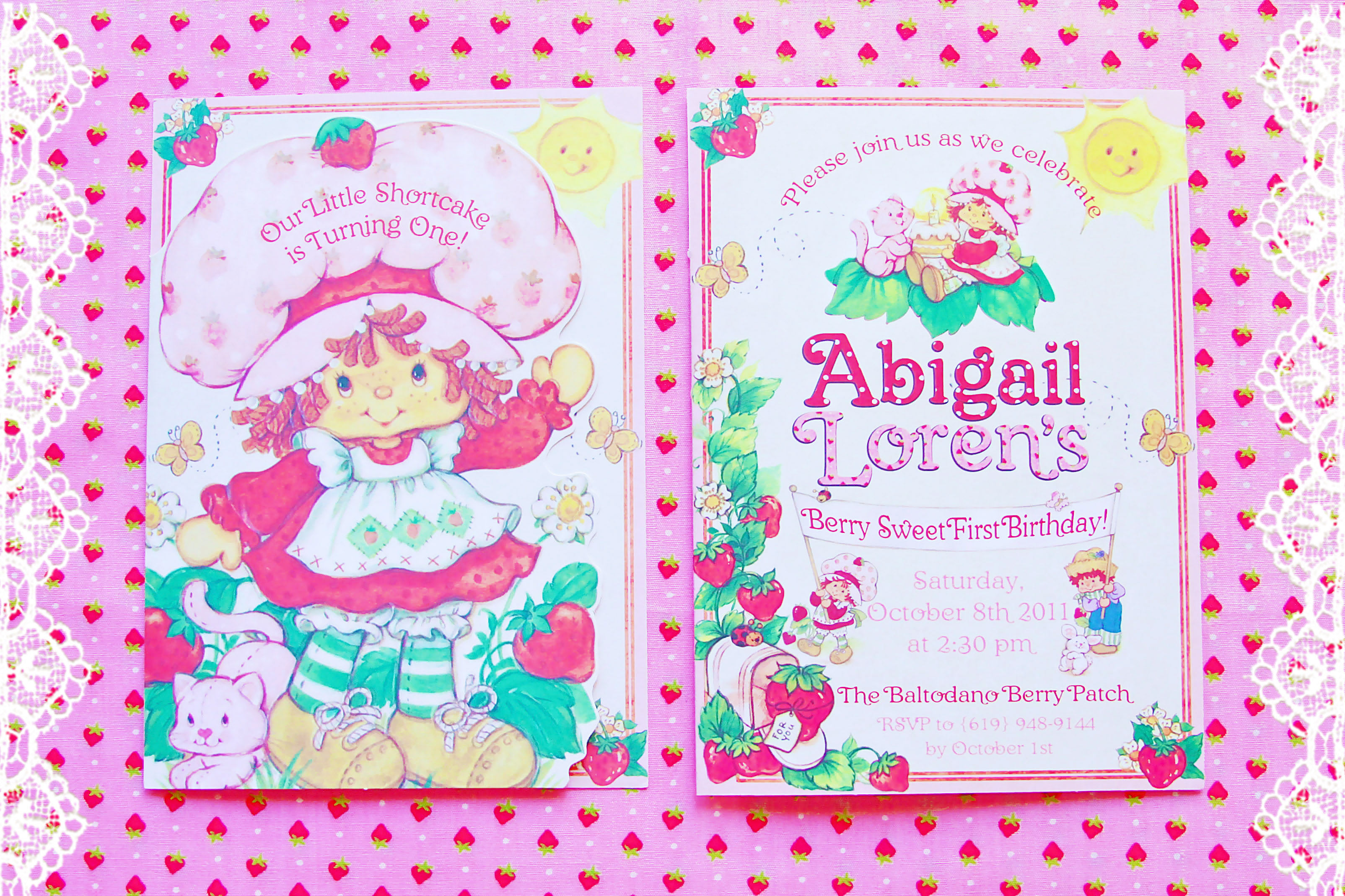 Vintage Strawberry Shortcake 1st Birthday Party Minted And Vintage Los Angeles California