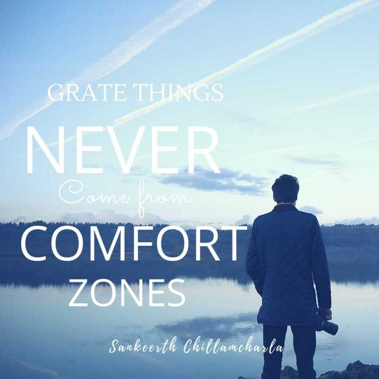 "Financial education:""GREAT THINGS NEVER COME FROM COMFORT ZONES"""