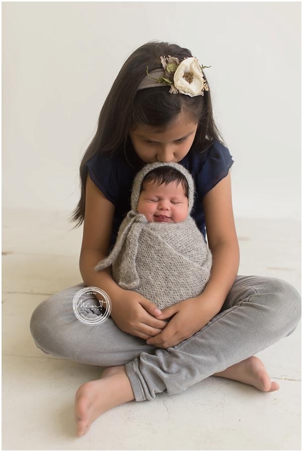 Carmel Newborn Photography Baby Mariella Mint Portrait