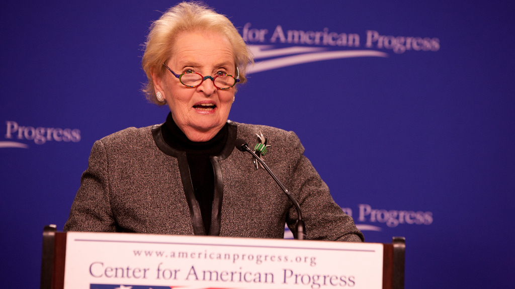 Madeline Albright speaks at a conference for the Center for American Progress in 2010. (Photo by the Center for American Progress via Flikr)