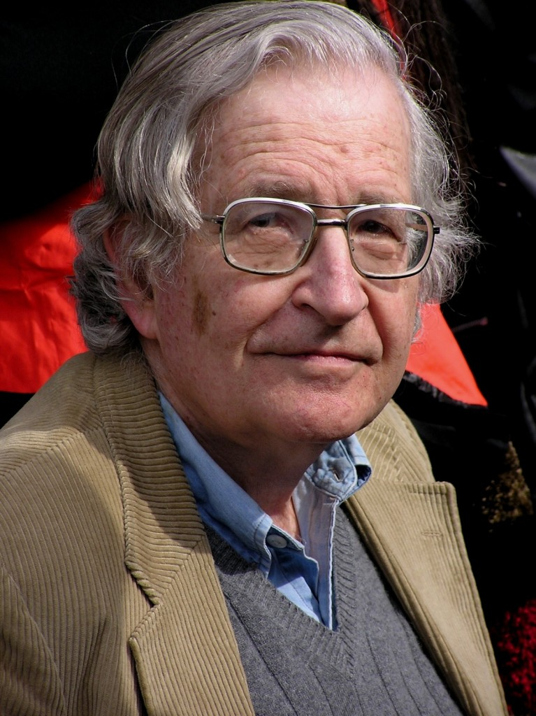 Noam Chomsky (pictured in 2012), who lives in the blue state of Massachusetts, said he would vote for Hillary Clinton if he lived in a swing state such as Ohio. | AP Photo