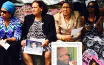 Mothers whose children have been killed by police gather in Washington, D.C. on Saturday. (Photo courtesy of Code Pink)