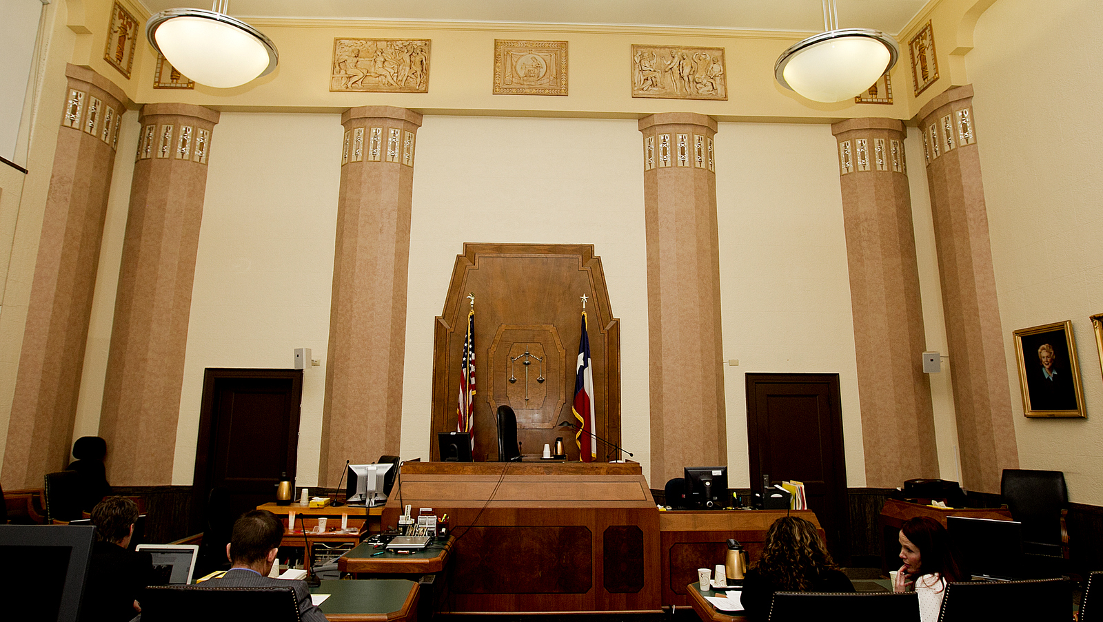 One of the original courtrooms in the Herman Marion Sweatt courthouse. Alberto Martínez AMERICAN-STATESMAN