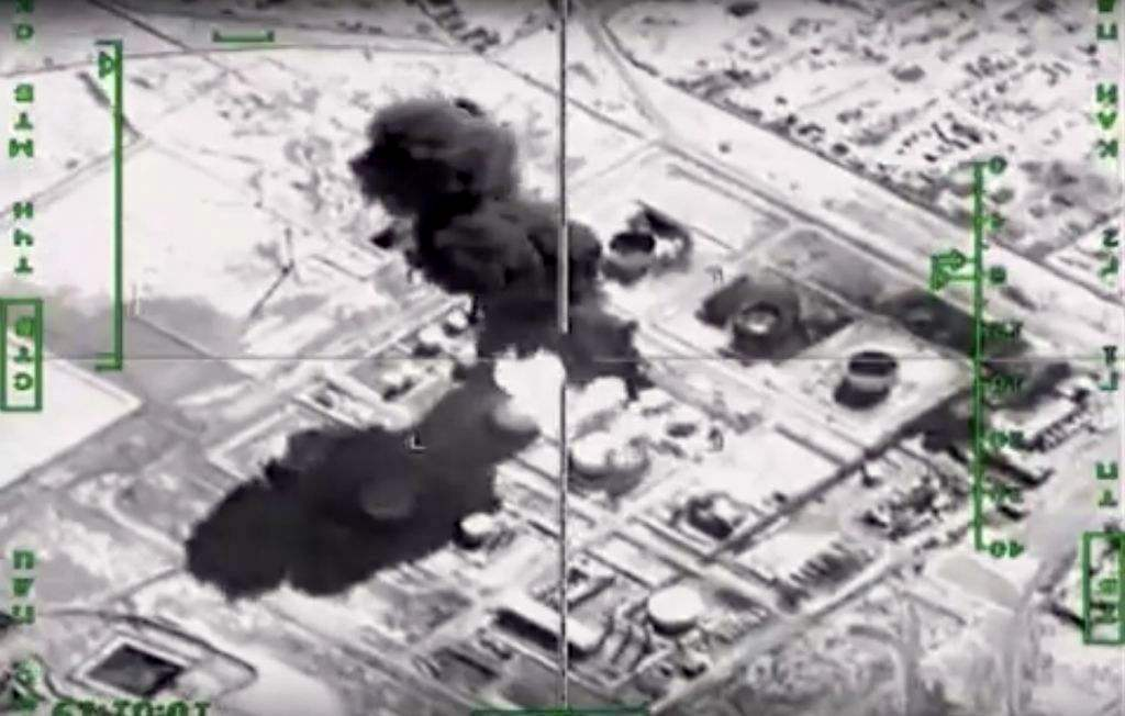 Russian warplanes attacked oil extraction, transport and refinement facilities in areas controlled by ISIS militants. (Russian Defense Ministry Press Service)