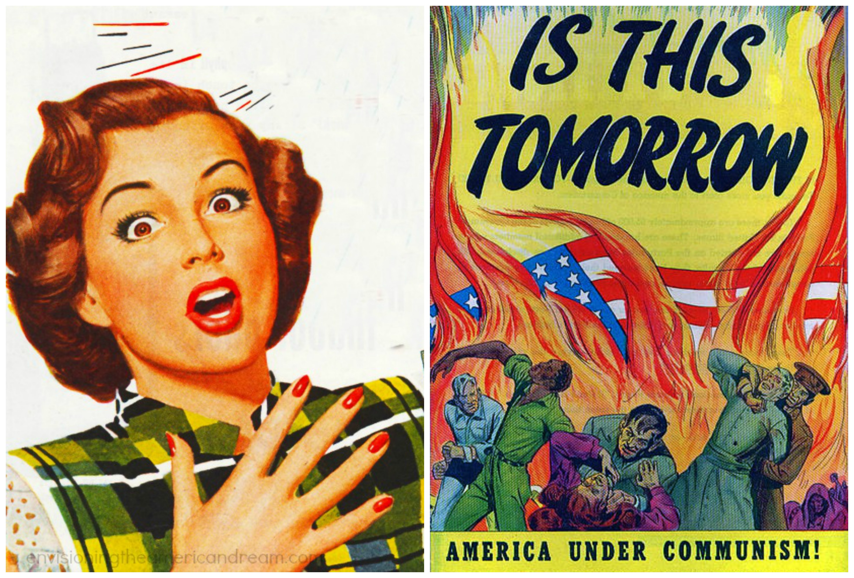 "America under Communism"" a 48 page cautionary tale of how easy it would be for Communists to take over the US. It was published """"To make you more alert to the menace of Communism."""