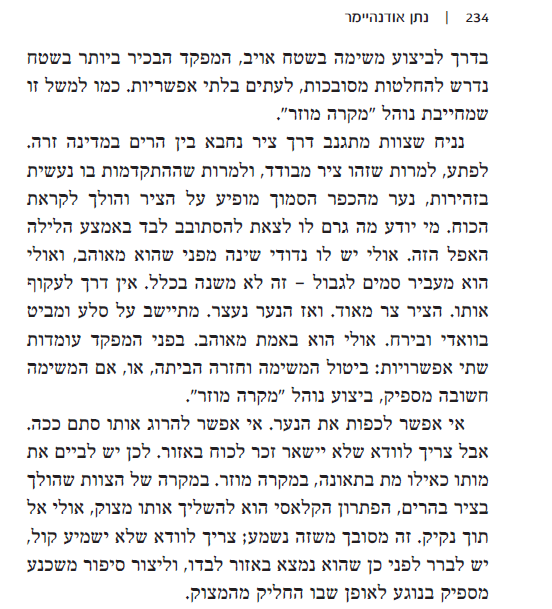 "A page from Natan Odenheimer's ""Nifla Po"" documenting covert IDF operations and killing of civilians."