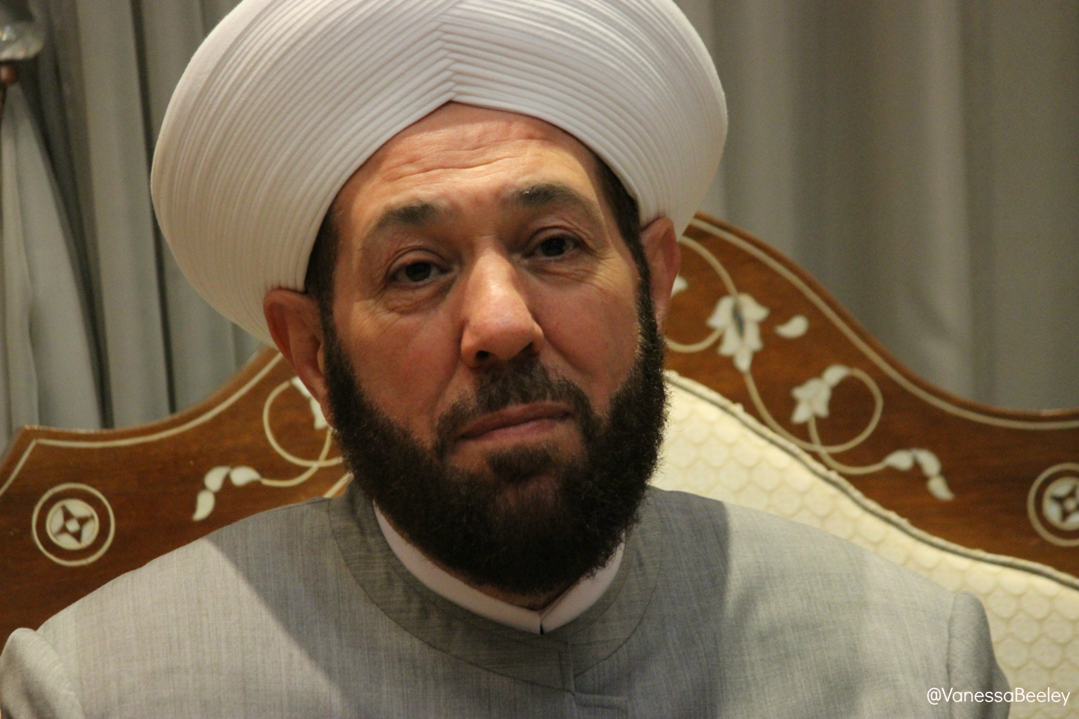Grand Mufti Ahmad Badreddin Hassoun. (Photo by Vanessa Beeley)