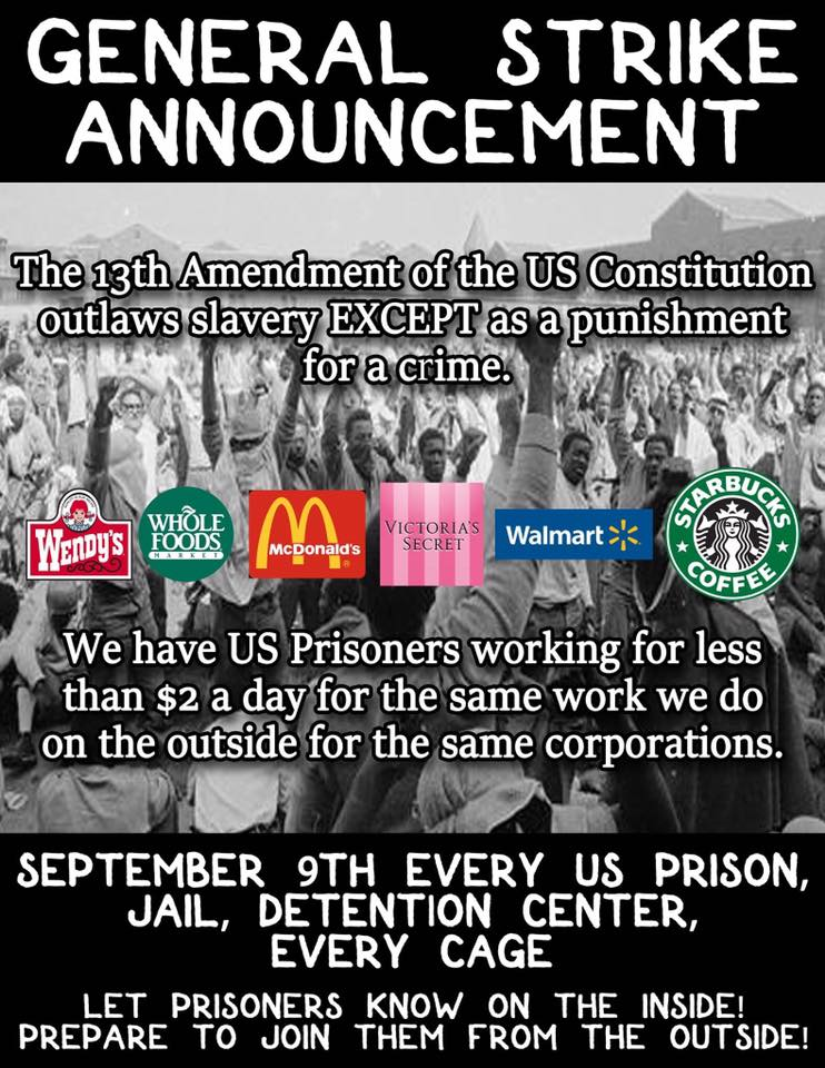 General Strike Announcement, Sept 9 2016