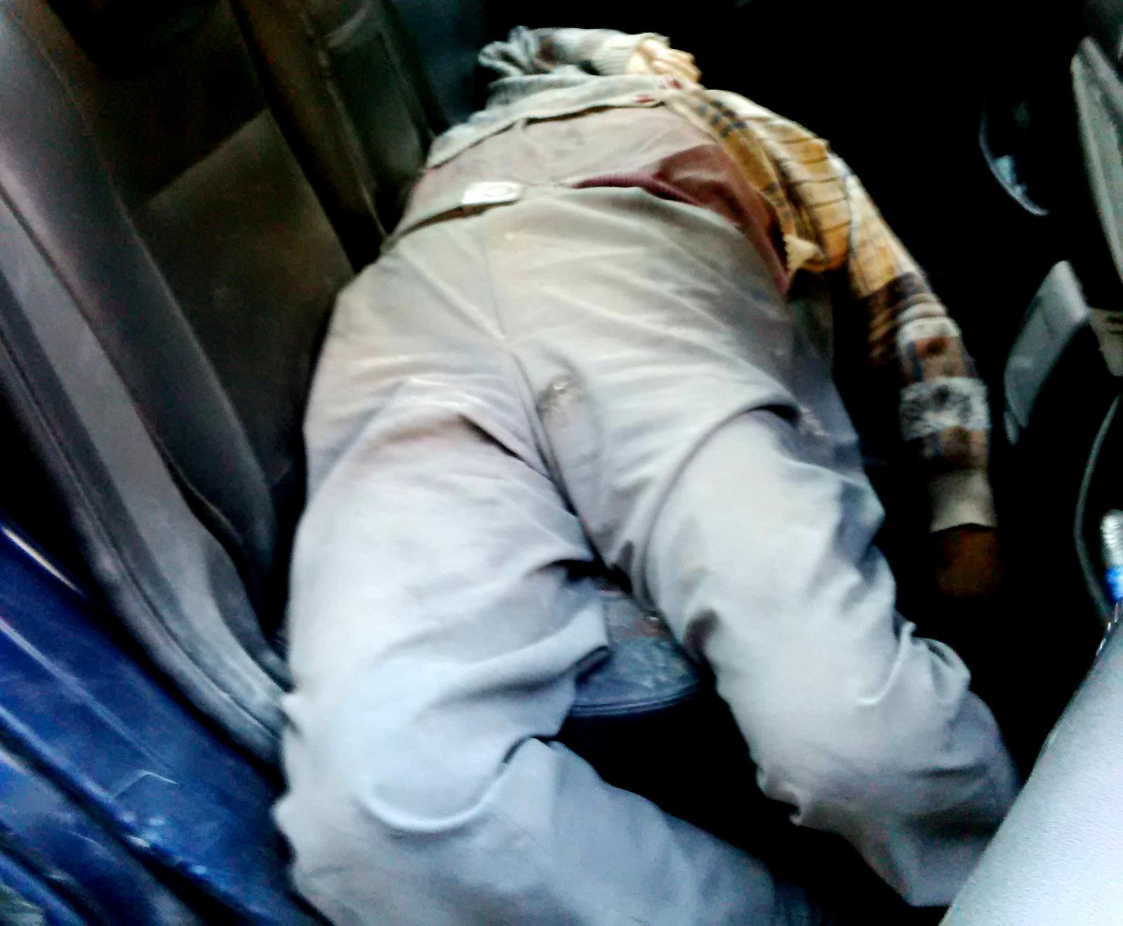 The body of a civilian who was killed in the Nov. 3 attacks in Aleppo.