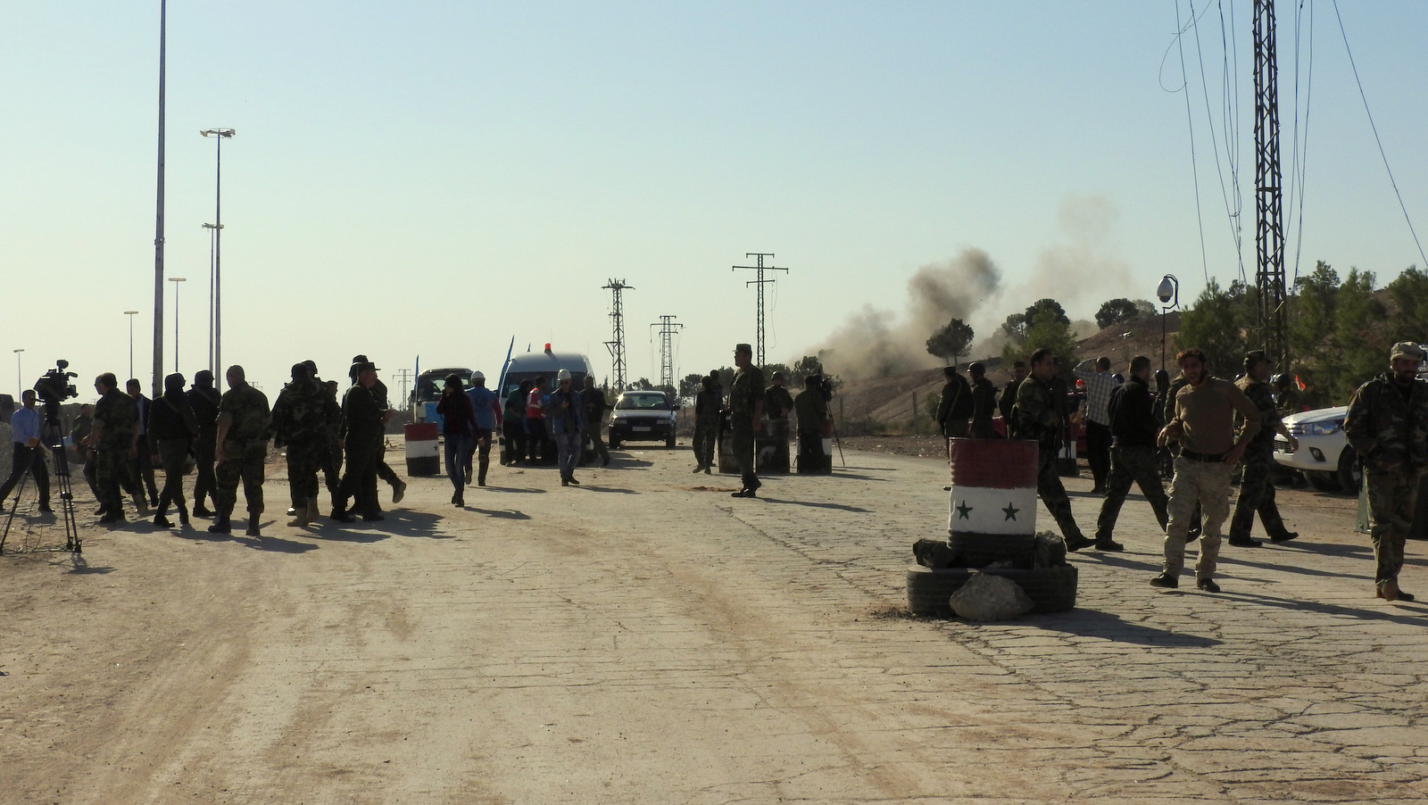 Less than 100 metres away, the second of two mortars fired by terrorist factions less than 1 km from Castello Road on Nov. 4. The road and humanitarian corridor were targeted at least six times that day by terrorist factions. Nov. 4, 2016. (Photo: Eva Bartlett)